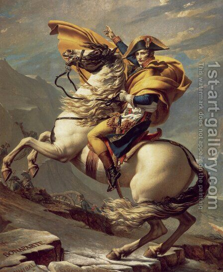 Napoleon Crossing the Alps by Jacques Louis David - Reproduction Oil Painting