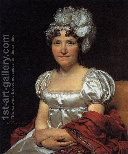 Portrait of Marguerite-Charlotte David by Jacques Louis David - Reproduction Oil Painting