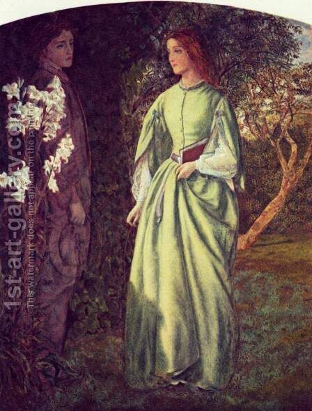 The rendezvous by Arthur Hughes - Reproduction Oil Painting