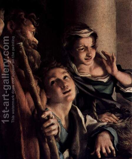 Adoration of the Shepherds (The Night), detail, shepherds by Correggio (Antonio Allegri) - Reproduction Oil Painting