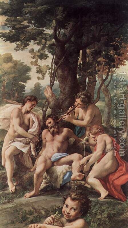 Lasterallergorie by Correggio (Antonio Allegri) - Reproduction Oil Painting
