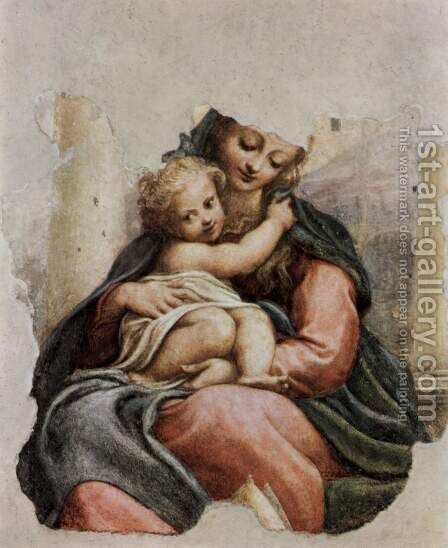 Madonna della Scala, Fragment by Correggio (Antonio Allegri) - Reproduction Oil Painting