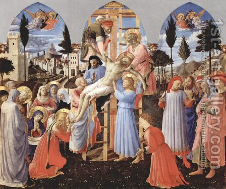 Deposition (Pala di Santa Trinita, detail) 2 by Angelico Fra - Reproduction Oil Painting