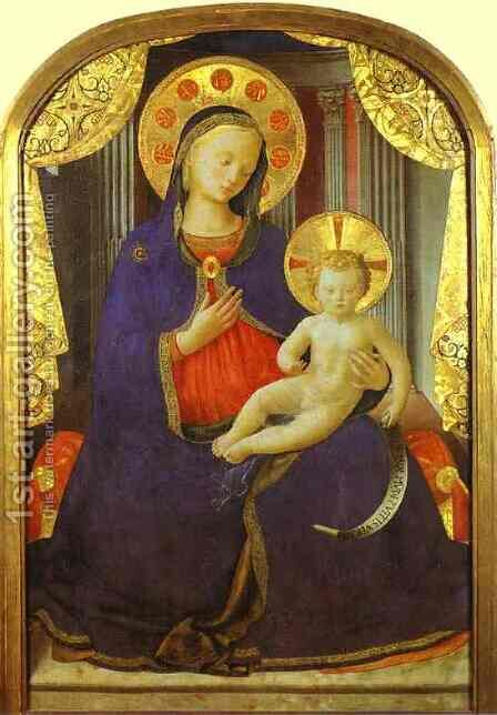 Madonna and Child by Angelico Fra - Reproduction Oil Painting