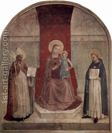 Madonna throne with St. Dominic and St. Zenobius by Angelico Fra - Reproduction Oil Painting