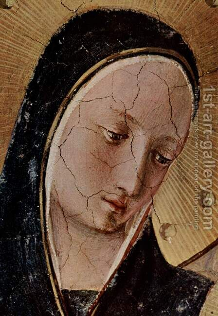 Mary and the Christ child and saints, detail by Angelico Fra - Reproduction Oil Painting