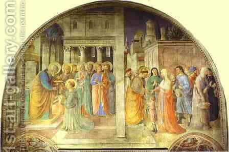 Ordination of St. Stephen by St. Peter by Angelico Fra - Reproduction Oil Painting