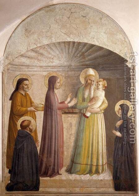 Presentation of Jesus in the Temple by Angelico Fra - Reproduction Oil Painting