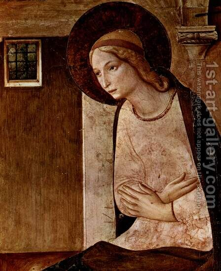 Proclamation, detail Virgin of Annunciation by Angelico Fra - Reproduction Oil Painting