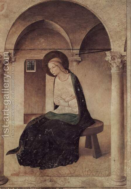 Proclamation, detail, Virgin of the Annunciation by Angelico Fra - Reproduction Oil Painting