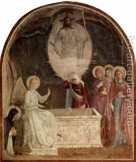 Resurrection of Christ and Women at the Tomb by Angelico Fra - Reproduction Oil Painting