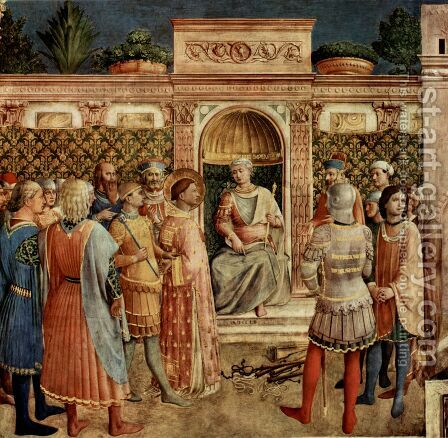 St Lawrence on Trial by Angelico Fra - Reproduction Oil Painting
