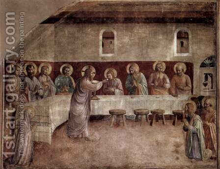 The Institution of the Eucharist by Angelico Fra - Reproduction Oil Painting