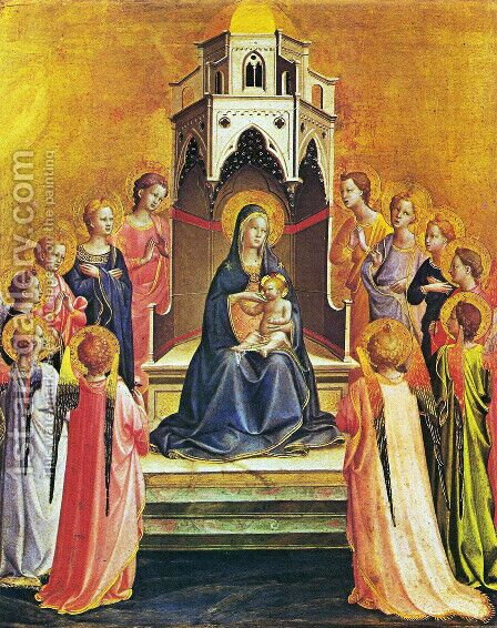 Virgin with the child and twelve angels by Angelico Fra - Reproduction Oil Painting