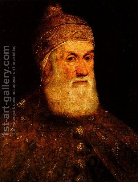 Portrait of Doge Girolamo Priuli by Jacopo Tintoretto (Robusti) - Reproduction Oil Painting