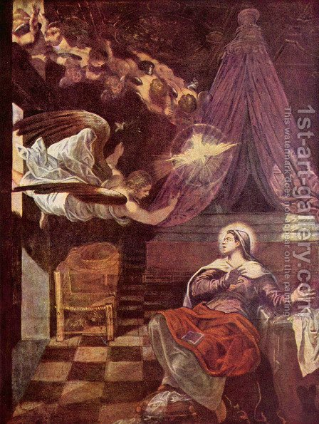 Proclamation by Jacopo Tintoretto (Robusti) - Reproduction Oil Painting