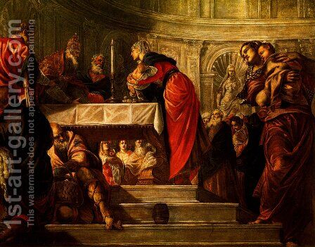 The Presentation of Christ in the Temple by Jacopo Tintoretto (Robusti) - Reproduction Oil Painting