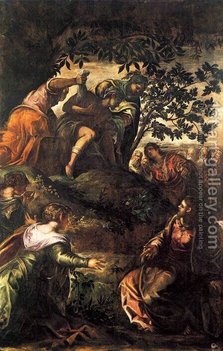 The Raising of Lazarus by Jacopo Tintoretto (Robusti) - Reproduction Oil Painting