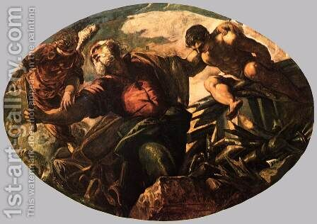 The Sacrifice of Isaac by Jacopo Tintoretto (Robusti) - Reproduction Oil Painting
