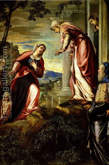 The Visitation 1 by Jacopo Tintoretto (Robusti) - Reproduction Oil Painting