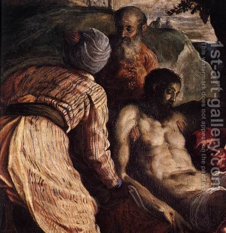 Christ Carried to the Tomb (detail) by Jacopo Tintoretto (Robusti) - Reproduction Oil Painting