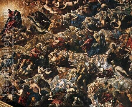 Paradise (detail 2) by Jacopo Tintoretto (Robusti) - Reproduction Oil Painting