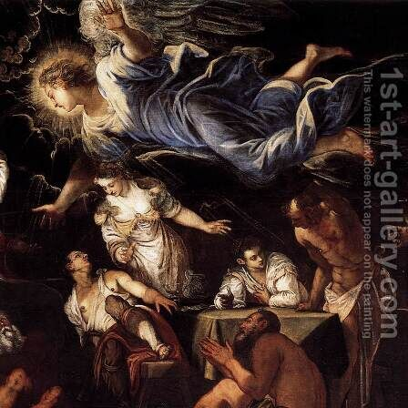 St Roch in Prison Visited by an Angel (detail 2) by Jacopo Tintoretto (Robusti) - Reproduction Oil Painting