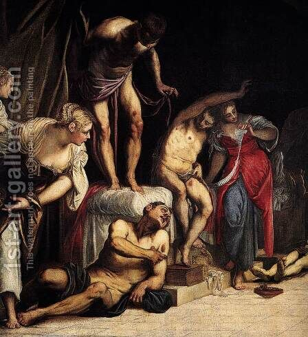 St Roch in the Hospital (detail 1) by Jacopo Tintoretto (Robusti) - Reproduction Oil Painting