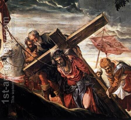 The Ascent to Calvary (detail) by Jacopo Tintoretto (Robusti) - Reproduction Oil Painting