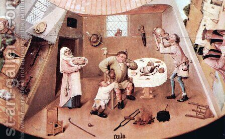 The Seven Deadly Sins (detail 3) by Hieronymous Bosch - Reproduction Oil Painting