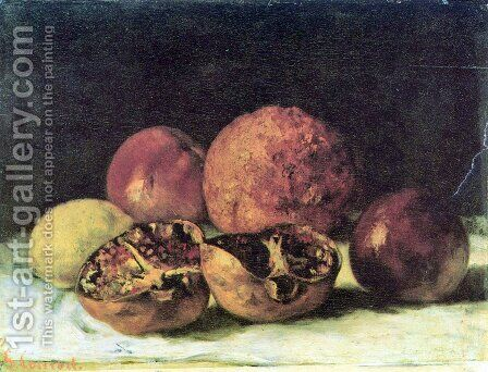 Pomegranates by Gustave Courbet - Reproduction Oil Painting