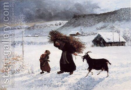 Poor Woman of the Village by Gustave Courbet - Reproduction Oil Painting