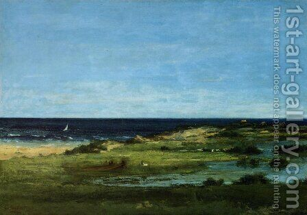 The beach by Gustave Courbet - Reproduction Oil Painting