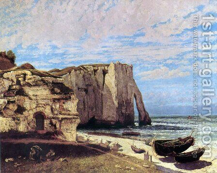 The Cliffs of Étretat After the Storm by Gustave Courbet - Reproduction Oil Painting