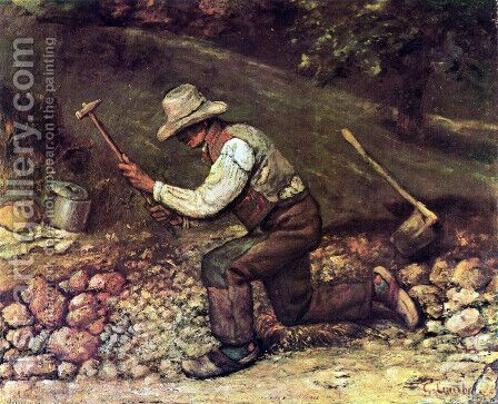 The Stone Breaker by Gustave Courbet - Reproduction Oil Painting