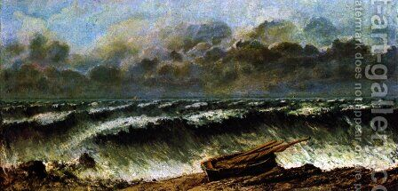 The waves by Gustave Courbet - Reproduction Oil Painting