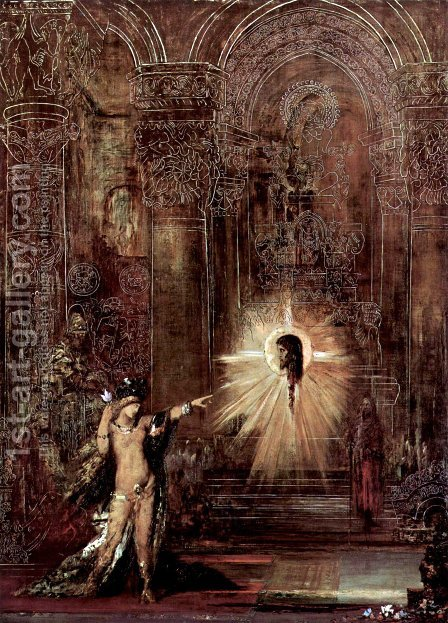 The appearance (Salomé and the head of John the Baptist) by Gustave Moreau - Reproduction Oil Painting