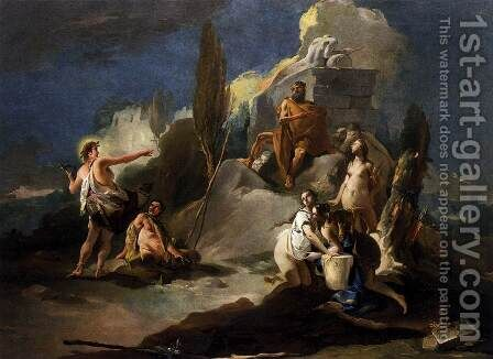 Apollo and Marsyas by Giovanni Battista Tiepolo - Reproduction Oil Painting
