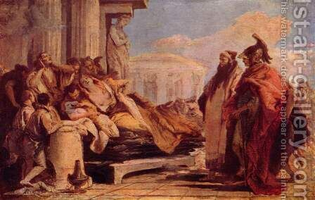 Death of Dido by Giovanni Battista Tiepolo - Reproduction Oil Painting