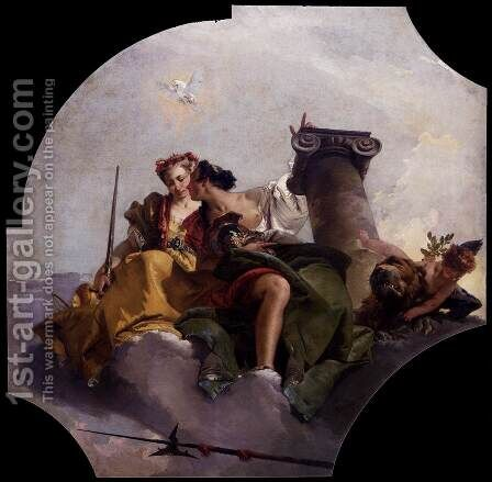 Fortitude and Justice by Giovanni Battista Tiepolo - Reproduction Oil Painting