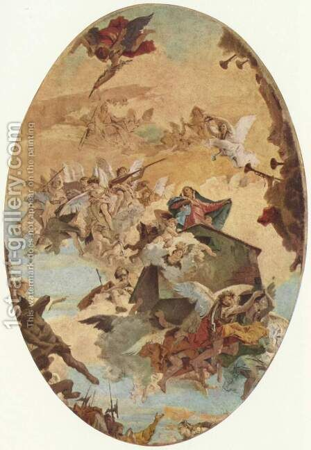 Guidance of the Holy House of Nazareth after Loreto by Giovanni Battista Tiepolo - Reproduction Oil Painting