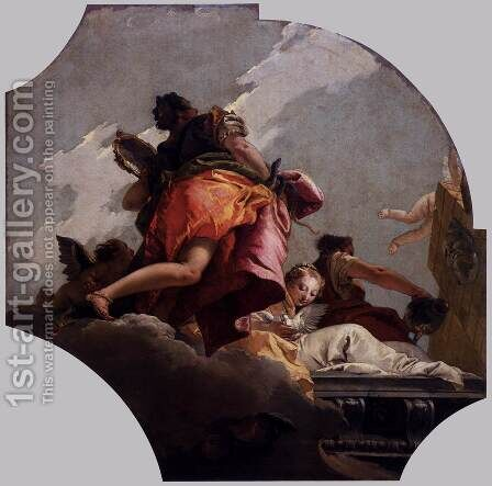 Prudence, Sincerity, and Temperance by Giovanni Battista Tiepolo - Reproduction Oil Painting
