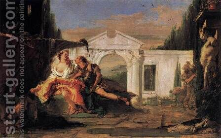 Rinaldo and Armida 1 by Giovanni Battista Tiepolo - Reproduction Oil Painting