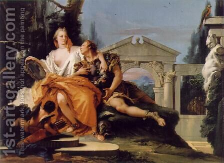 Rinaldo and Armida 2 by Giovanni Battista Tiepolo - Reproduction Oil Painting
