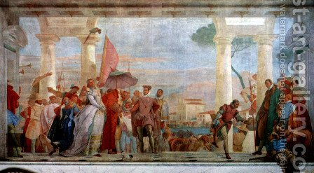 The reception of Henrich III by Giovanni Battista Tiepolo - Reproduction Oil Painting