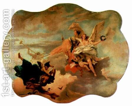 Triumph of Fortitudo and the Sapienzia by Giovanni Battista Tiepolo - Reproduction Oil Painting