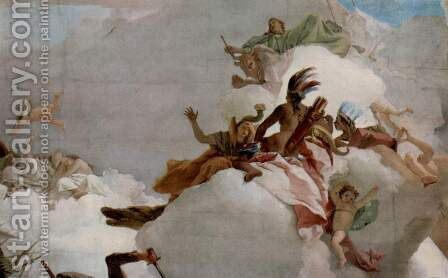 Apotheosis of the Family Pisani, detail 1 by Giovanni Battista Tiepolo - Reproduction Oil Painting