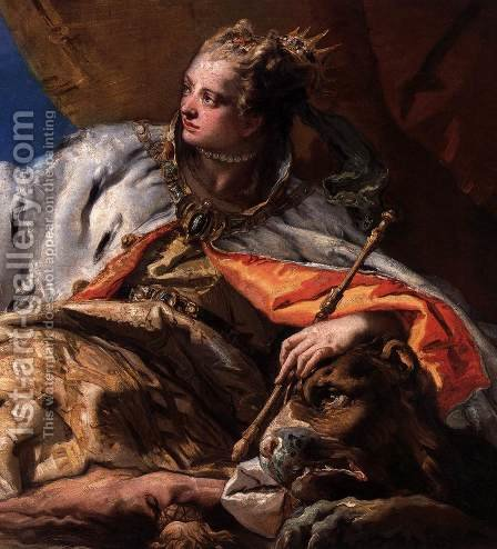 Neptune Offering Gifts to Venice (detail 2) by Giovanni Battista Tiepolo - Reproduction Oil Painting