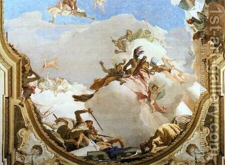The Apotheosis of the Pisani Family [detail 1] by Giovanni Battista Tiepolo - Reproduction Oil Painting