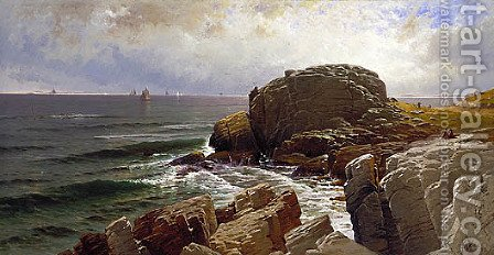 Castle Rock, Marblehead by Alfred Thompson Bricher - Reproduction Oil Painting